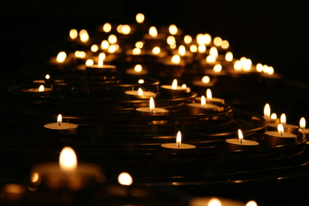 Candles lit for Prayer